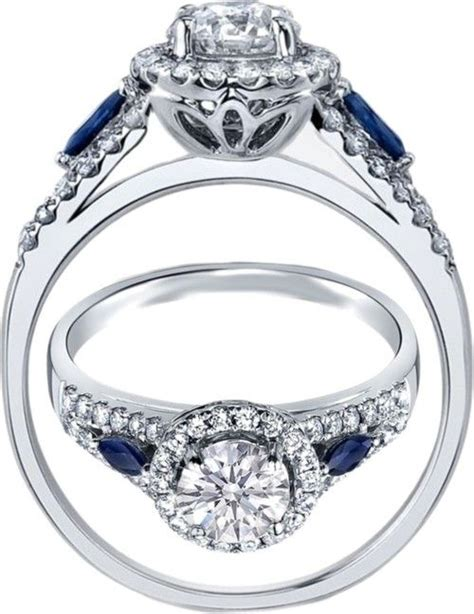 Side Accent Halo Ring 1216 best 25 blue sapphire ideas on sapphire