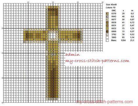 embroidery pattern maker free crucifix scheme maker 40x40 x 10 dmc colors threads