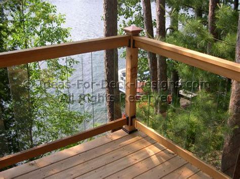 Home Depot Stair Railings Interior glass deck railing choose wood or aluminum
