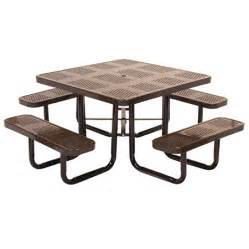 commercial outdoor and indoor square metal picnic table