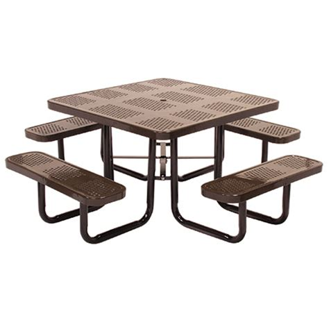 metal picnic tables commercial outdoor and indoor square metal picnic table