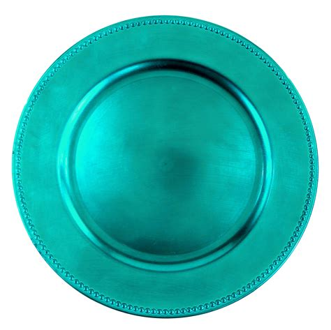 what are charger plates for beaded charger plate aqua 13 quot box of 24 lionsdeal