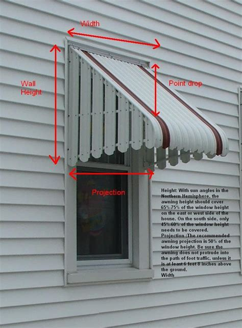 awning height measure for window awnings