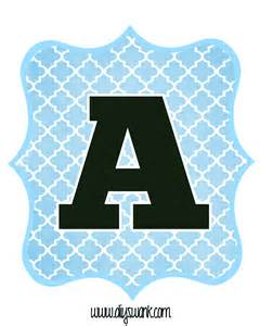 printable letter templates for banners blue and black printable letters for banners diy swank