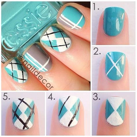 nail art checkered tutorial 22 easy nail tutorials nail art tutorials pretty designs