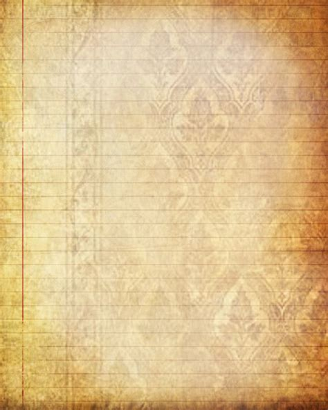 antique writing paper printable journal page vintage lined digital