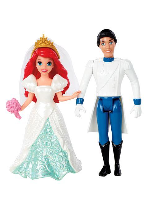 Wedding Magiclip Dolls Uk by Fairytale Wedding Ariel Prince Eric Magiclip Dolls