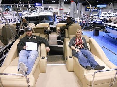 deck boat with head in chicago head to the boat show pontoon deck boat