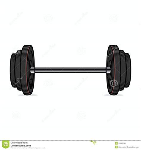 Dumble Fitnes Dumbbell On White Background Color Line Fitness