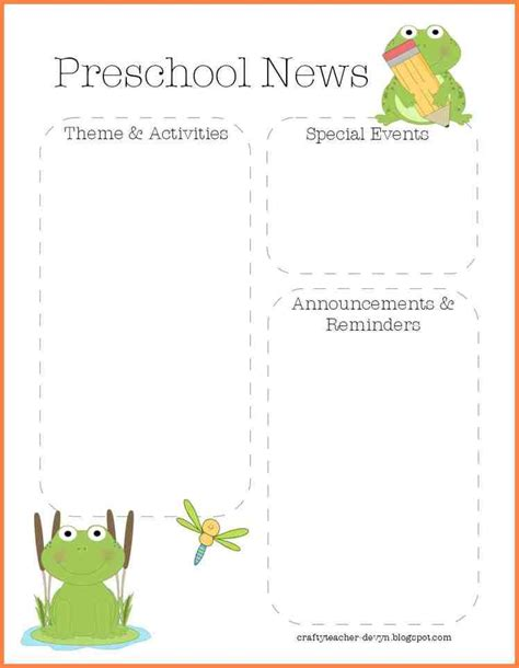 9 preschool monthly newsletter template newsletter template