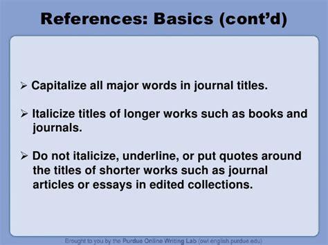 apa book title reference capitalization apa citation guide