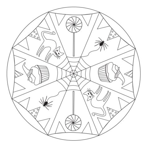 mandala coloring pages halloween halloween mandala with cats for pre k kindergarten and