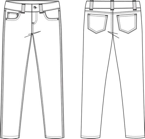 pattern illustrator jeans garment flat sketches for men google search