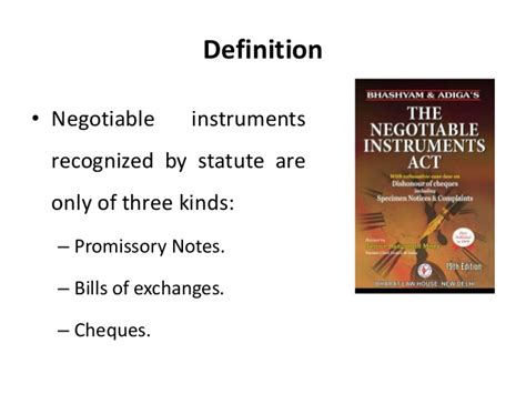 section 1 negotiable instruments law negotiable instruments act legal environment of business