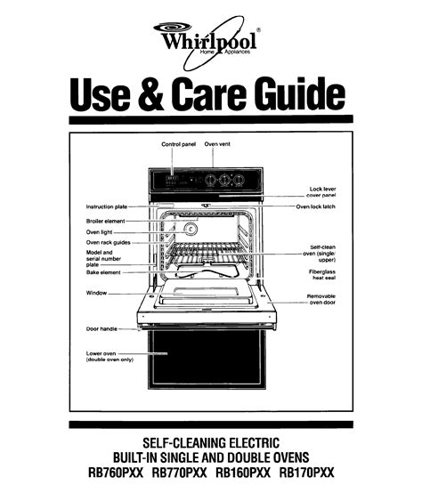 Whirlpool Oven Rb760pxx User Guide Manualsonline
