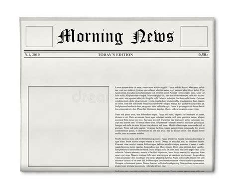 newspaper theme header size newspaper headline and photo template stock image image