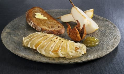gratinierter handkaese mit honig und feigensenf rezept