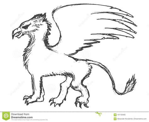 animal mitologico grifo animal mitol 243 gico del grifo stock de ilustraci 243 n