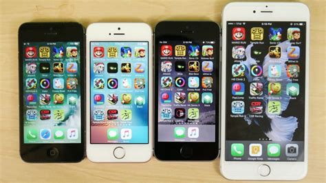 iphone 5 vs iphone 5s vs iphone se vs iphone 6s gaming