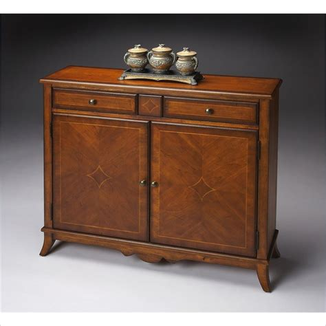 butler specialty cabinet antique cherry console table ebay