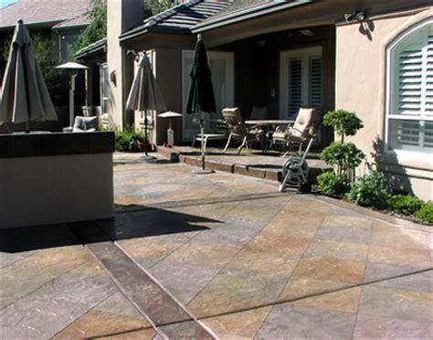 slabbed patio designs concrete patios photo gallery