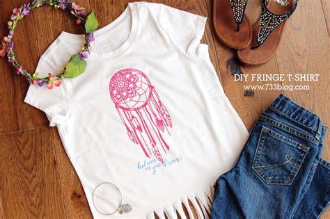 Diy Fringe T Shirt Ambrosia Believe In Your Dreams Diy Fringe T Shirt Inspiration Made Simple