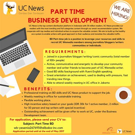 alibaba indonesia career business development partime studentjob indonesia
