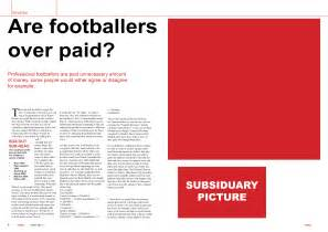 layout of an article layout feature article draft match day magazine