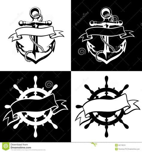 magic tattoo logo vector anchor icon vector tattoo logo grunge design floral