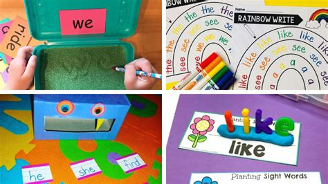 creative  simple sight word activities