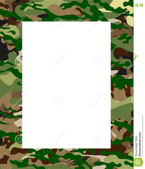 army pattern border army camouflage frame stock vector illustration of canvas