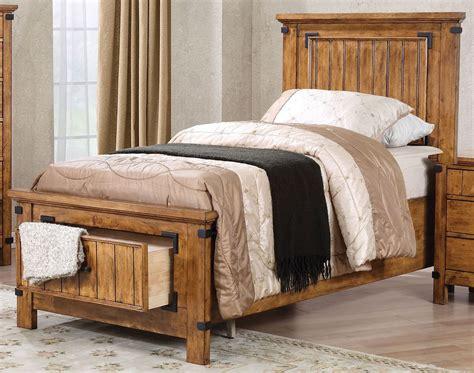 full panel bed brenner rustic honey full panel storage bed 205260f
