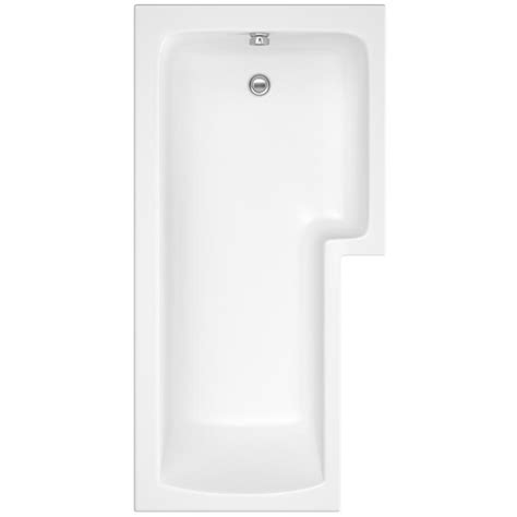 right shower bath square 1500 x 850mm right acrylic shower bath