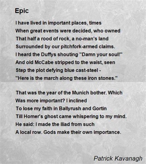epic poem by kavanagh poem