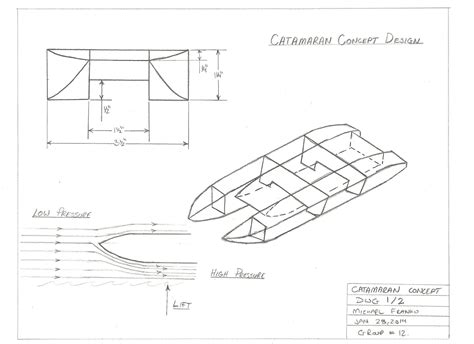 catamaran boat diagram michael