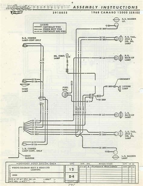 1968 camaro wiring schematic 28 wiring diagram images