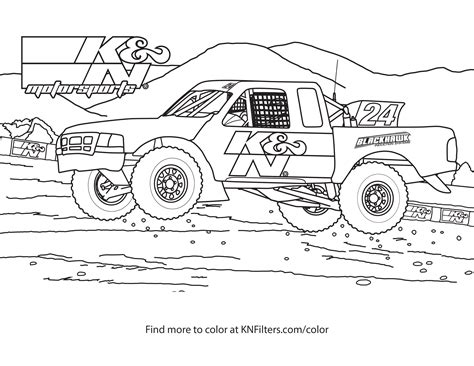 Off Road Truck Coloring Page | k n printable coloring pages for kids