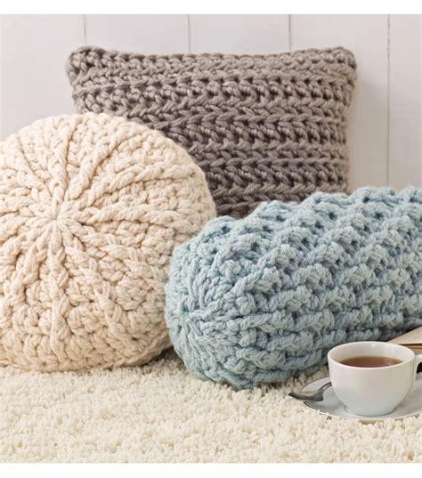 pattern ease joann cozy crochet pillows joann jo ann