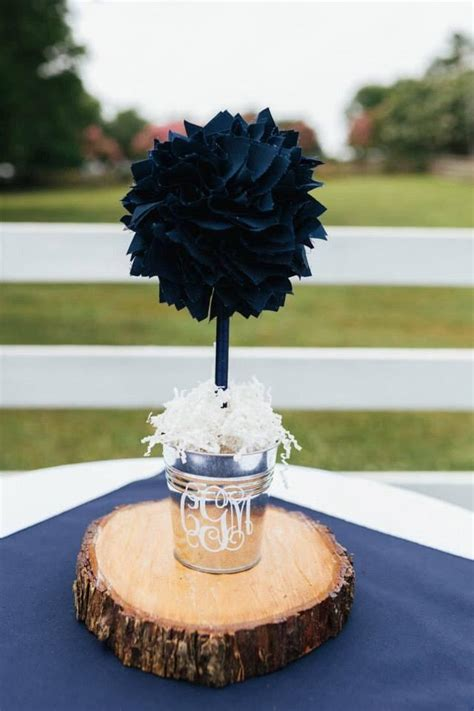 blue centerpieces for baby shower navy blue centerpiece wedding centerpiece unique baby