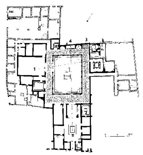 roman domus floor plan roman domus plan