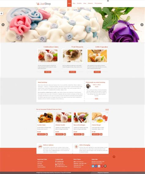 Cake Website Template beautiful cake website templates singapore f b design agency