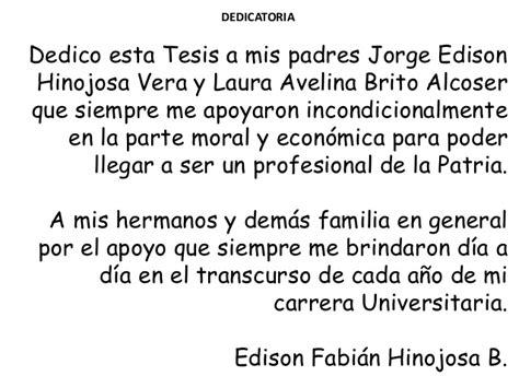agradecimiento de tesis para mi universidad ejemplo dedicatoria y agradecimiento