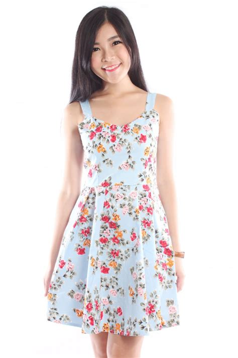 Floral V Neck Skater Dress v neck floral skater dress the label junkie
