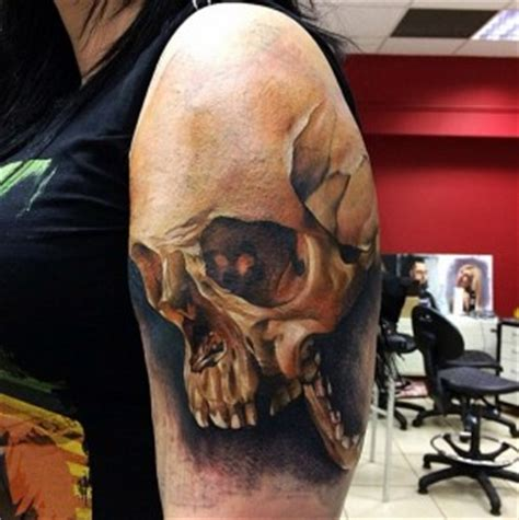skull shoulder tattoo designs 3d tattoos best ideas designs part 5