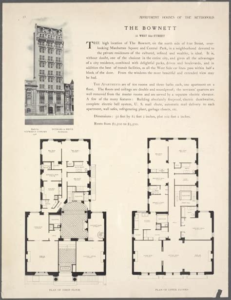 new york public library floor plan the bownett 11 west 81st street plan of first floor