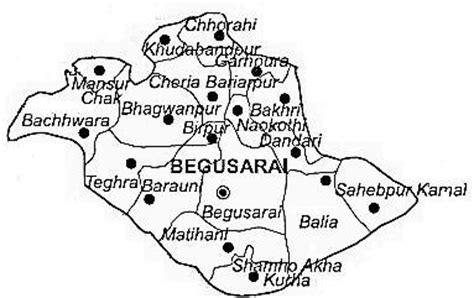 map of begusarai begusarai district begusarai district map