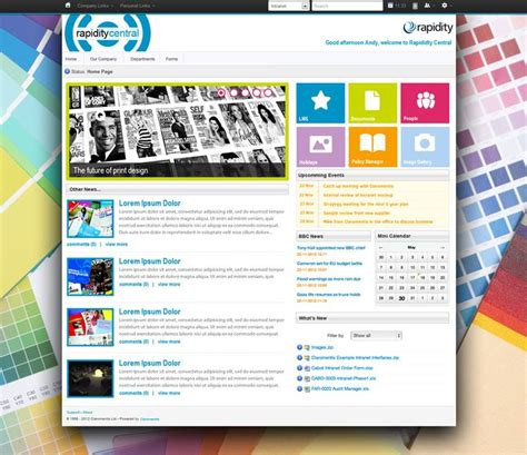 sharepoint layout exles best intranet designs and exles claromentis