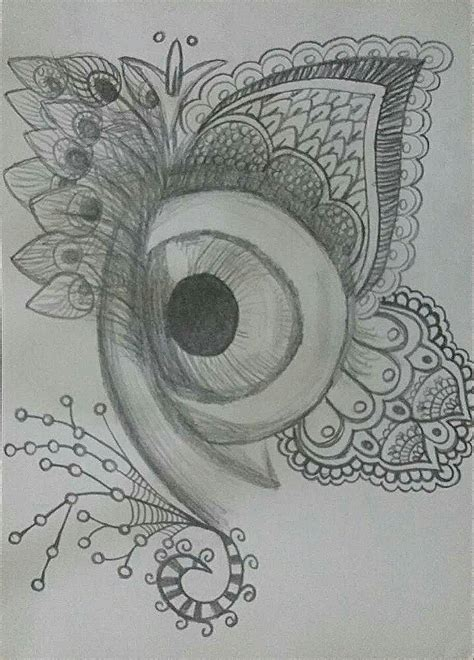 imagenes hipster a lapiz dibujo ojo lapiz zentangle blanco y negro hipster