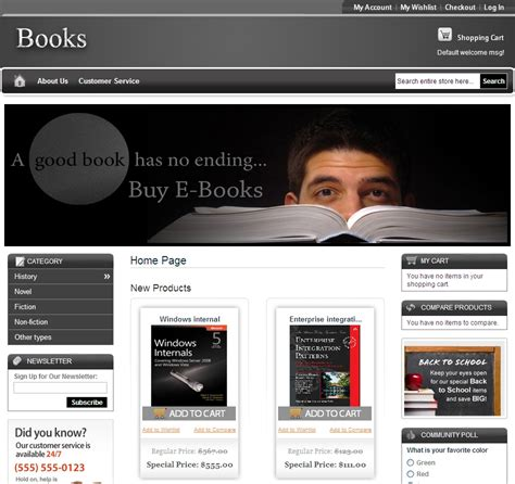 best templates for books websites give your magento book store an attractive template apptha
