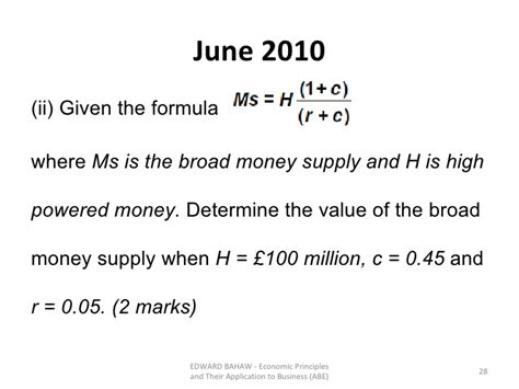 Credit Multiplier Formula Topic 9